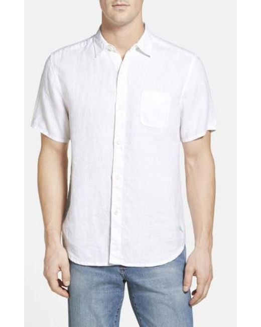 Tommy Bahama | White 'seaglass Breezer' Short Sleeve Linen Sport Shirt for Men | Lyst