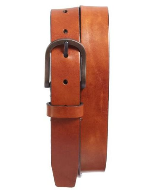 Bosca - Multicolor Heavyweight Leather Belt for Men - Lyst