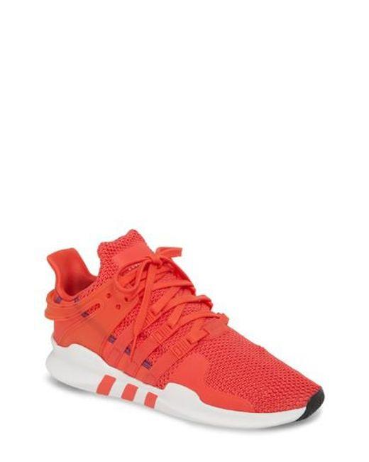 lyst adidas eqt appoggio avanzata scarpe in rosso per gli uomini