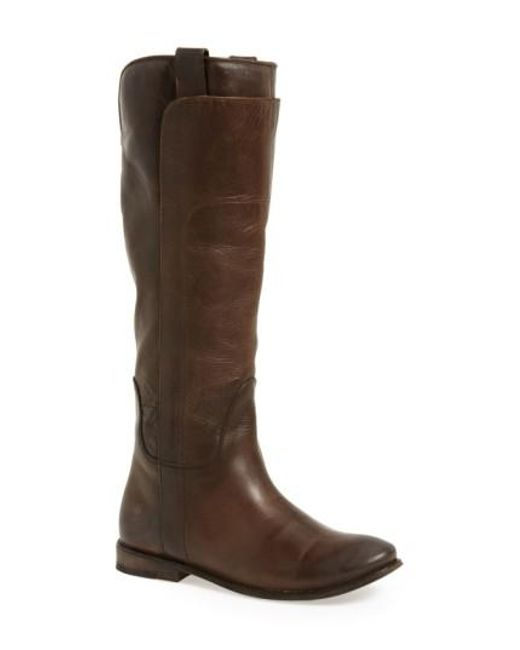 Frye | Brown Paige Leather Tall Riding Boots | Lyst