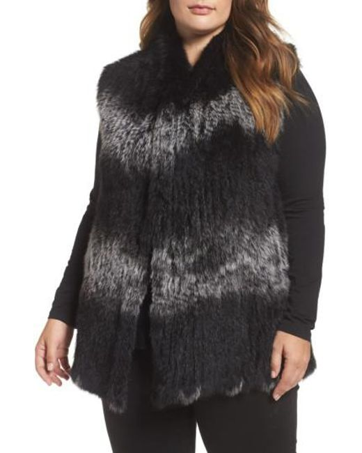 Love Token | Black Genuine Rabbit Fur Vest | Lyst