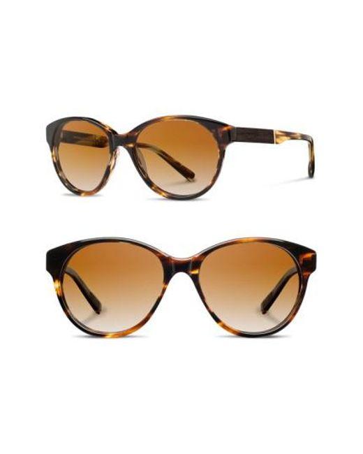 Shwood | Brown 'madison' 54mm Polarized Sunglasses | Lyst
