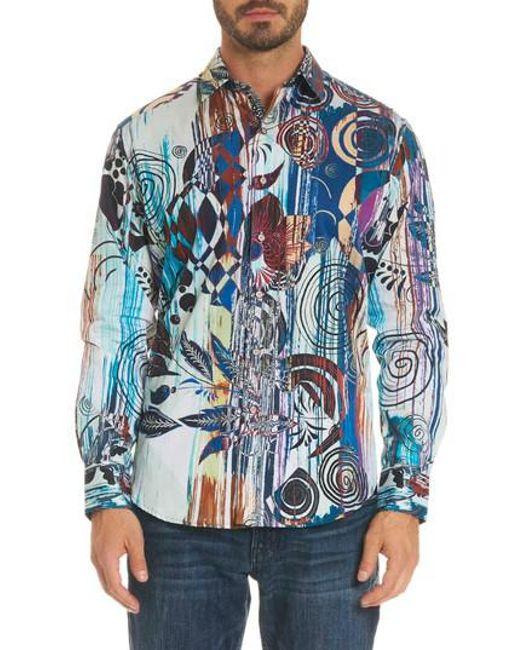 Robert Graham - Blue Borrego Classic Fit Sport Shirt for Men - Lyst