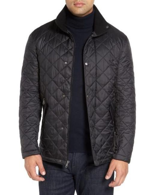 Cole Haan | Black Diamond Quilted Jacket for Men | Lyst