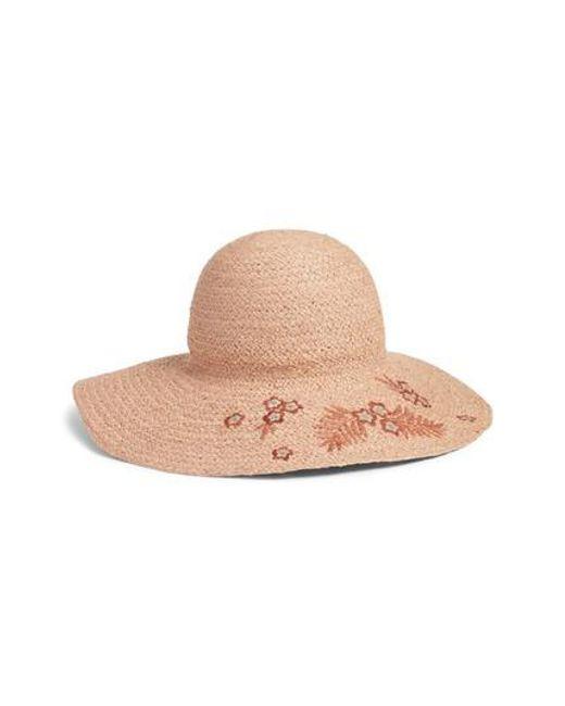 Helen Kaminski   Natural Flower Embroidered Raffia Hat   Lyst