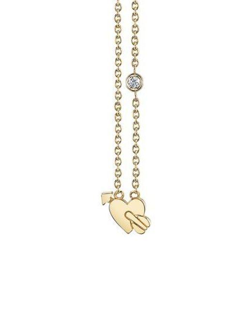 Shy By Sydney Evan - Metallic Shy Be Se Lovestruck Diamond Emoji Necklace - Lyst
