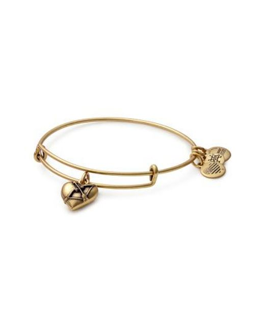 ALEX AND ANI - Metallic Cupid's Heart Expandable Charm Bracelet - Lyst