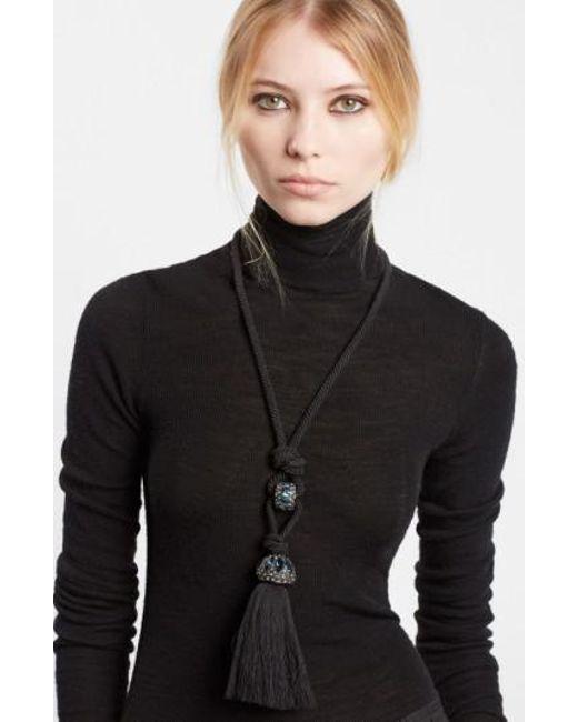 Lanvin | Blue Cord Pendant Necklace | Lyst