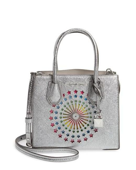 Michael Kors | Multicolor Michael Small Mercer Messenger Leather Tote | Lyst