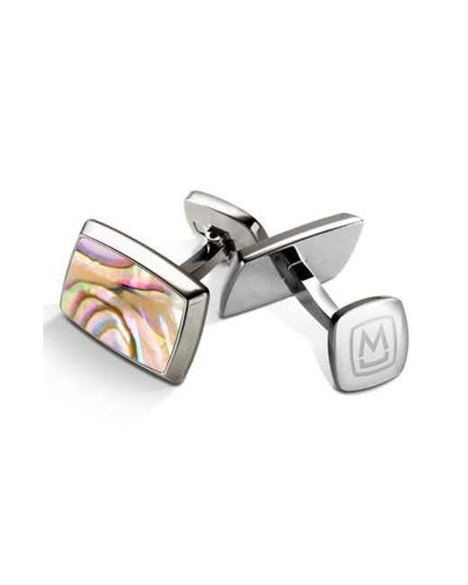 M-clip - Yellow M-clip Abalone Cuff Links for Men - Lyst