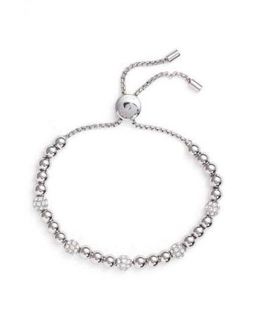 Michael Kors   Metallic Brilliance Pavé Beaded Slide Bracelet   Lyst