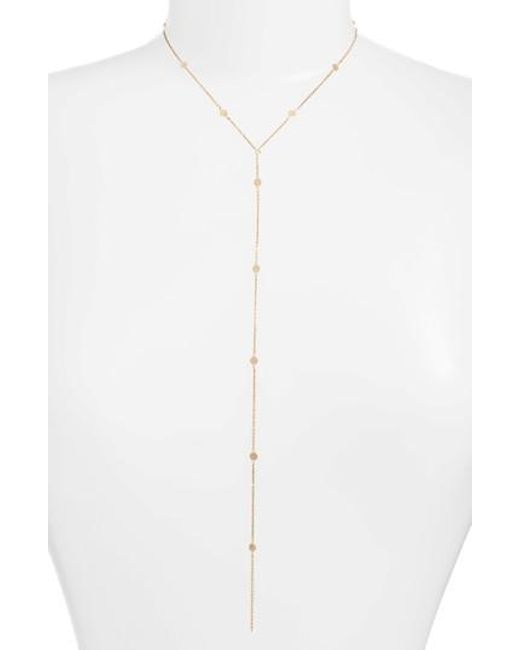 Argento Vivo - Metallic Mirror Station Lariat Necklace - Lyst