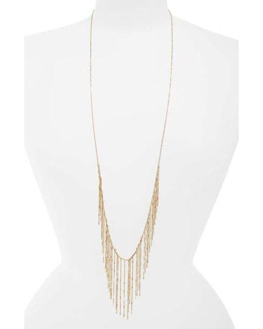 Panacea - Metallic Fringe Necklace - Lyst