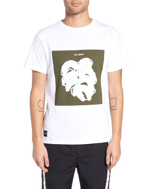 Native Youth - Green Placement Print T-shirt for Men - Lyst