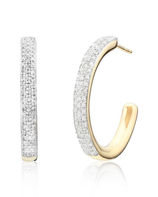 Monica Vinader - Metallic Fiji Large Diamond Hoop Earrings - Lyst
