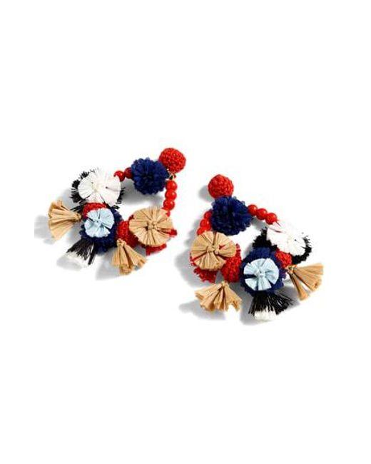 J.Crew - Multicolor Flower Raffia Earrings - Lyst