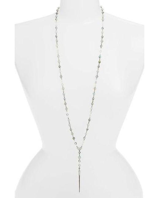 Chan Luu - Multicolor Semiprecious Stone Dagger Pendant Necklace - Lyst