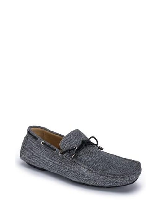 Bugatchi - Gray Pompeii Driving Shoe for Men - Lyst