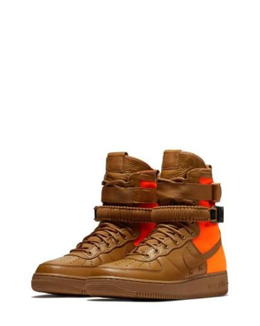 Nike - Brown Sf Air Force 1 Qs High Top Sneaker for Men - Lyst