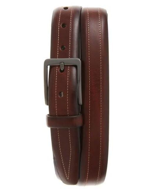 Trafalgar - Brown Cortina Leather Belt for Men - Lyst
