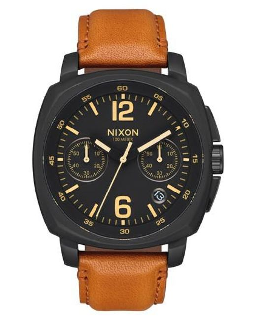 Nixon | Multicolor Charger Chronograph Leather Strap Watch for Men | Lyst