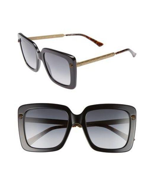 6ddb7a121b1 Gucci - Multicolor 53mm Square Sunglasses - - Lyst