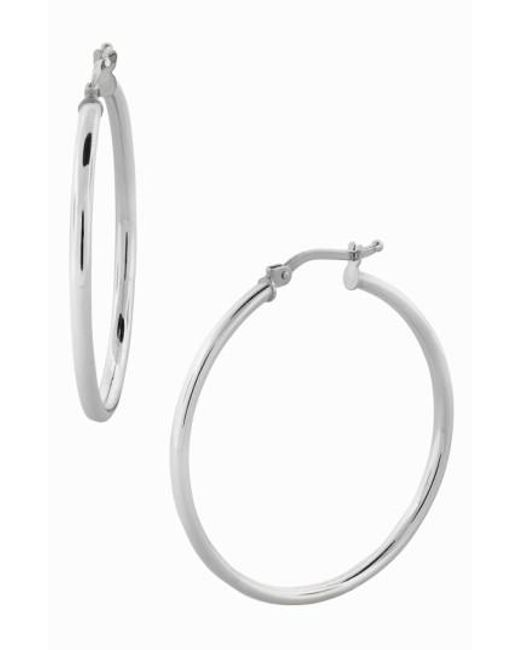 Bony Levy Metallic 14k Gold Hoop Earrings Nordstrom Exclusive Lyst