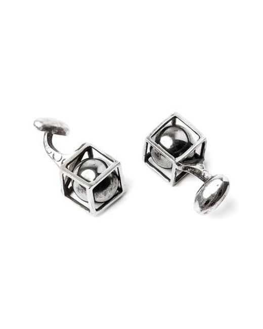 Title Of Work - Metallic Sphere In Cube Cuff Links for Men - Lyst