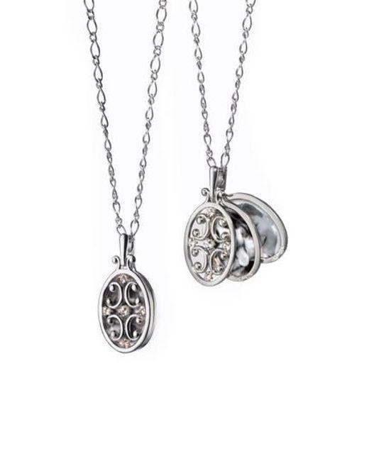 Monica Rich Kosann - Metallic Scrollwork Locket Necklace - Lyst