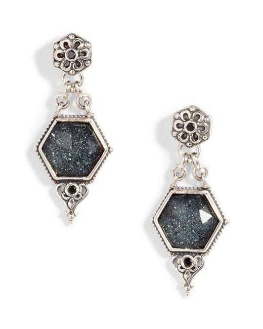 Konstantino - Metallic Santorini Hematite Octogan Drop Earrings - Lyst