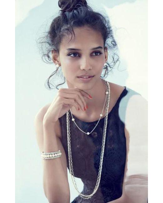 Lagos - Metallic 'luna' 7.5mm Pearl Bracelet - Lyst