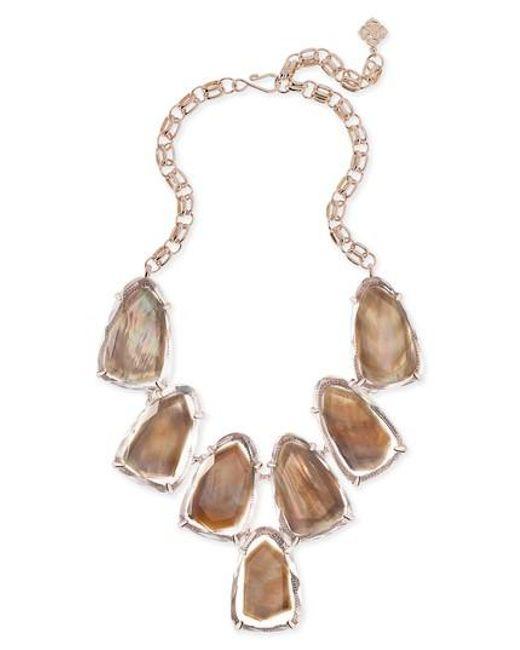 Kendra Scott | Brown Harlow Necklace | Lyst