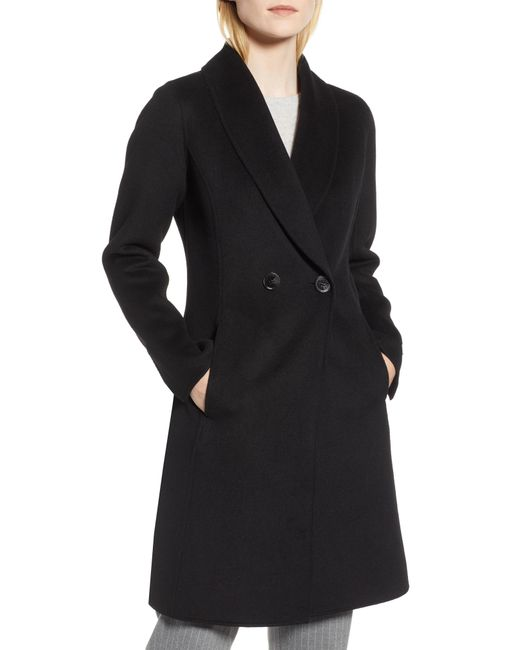 Tahari - Black Caleigh Fitted Wool Blend Coat - Lyst