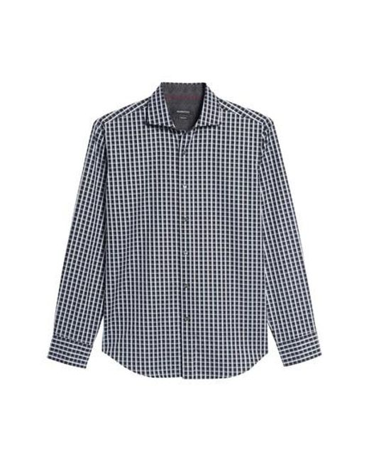 Bugatchi - Black Shaped Fit Print Sport Shirt for Men - Lyst