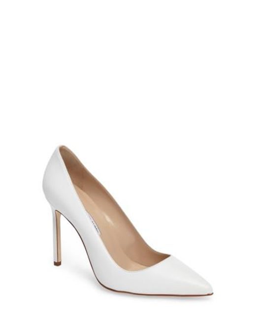 Manolo Blahnik - Red 'bb' Pointy Toe Pump - Lyst