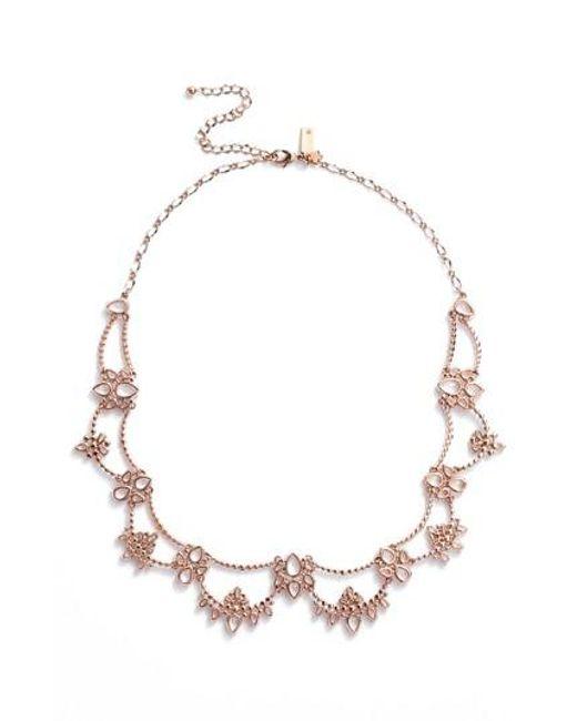 Kate Spade - Metallic Cascade Crystal Collar Necklace - Lyst