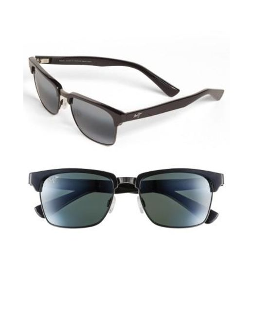 Maui Jim - Black 'kawika - Polarizedplus2' 54mm Sunglasses for Men - Lyst