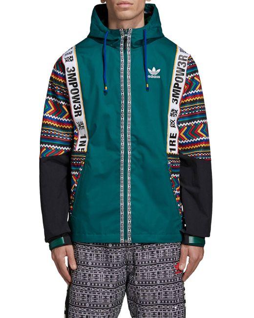 1657aebf67 Lyst - adidas Originals Pharrell Williams Hooded Jacket in Blue for Men