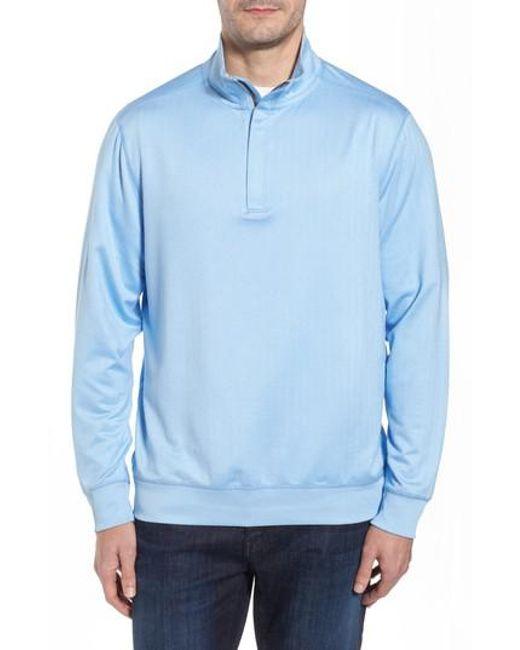 Tommy Bahama - Blue Pro Formance Quarter Zip Sweater for Men - Lyst