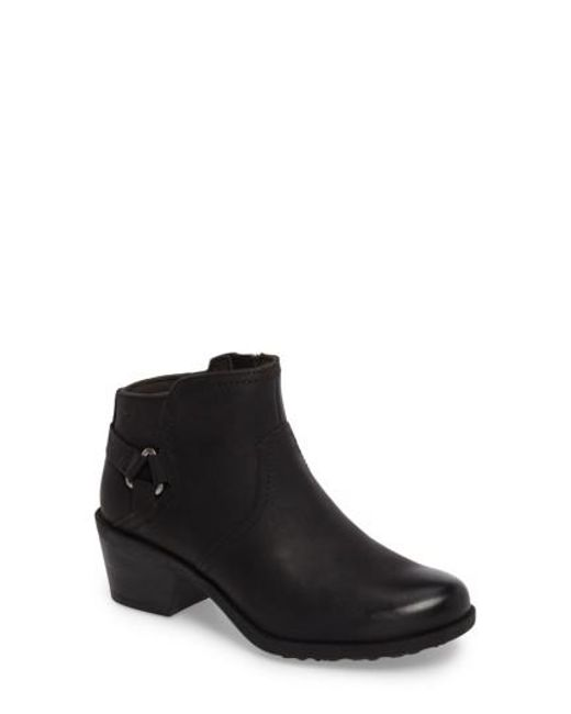 Teva - Black Foxy Leather Ankle Boots - Lyst