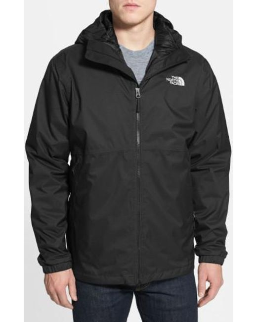 The North Face - Black 'all About' Triclimate Waterproof Hooded 3-in-1 Hyvent Jacket for Men - Lyst