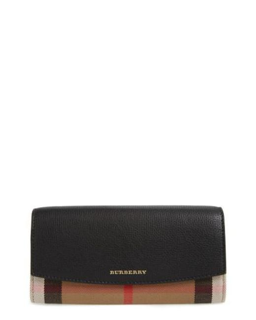 Burberry - Black 'porter' Continental Wallet - Lyst