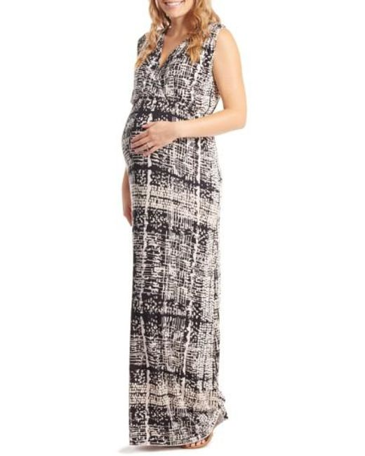 Everly Grey | Multicolor 'jill' Maternity Maxi Dress | Lyst