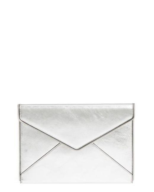 Rebecca Minkoff - Leo Mirror Metallic Envelope Clutch - - Lyst