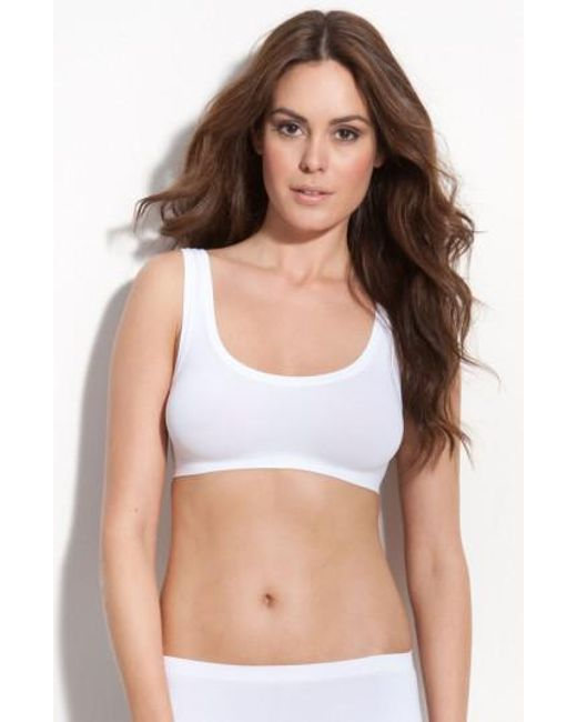 Hanro - White 'touch Feeling' Crop Top - Lyst