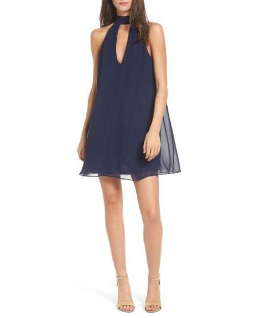 Soprano   Blue Lace-up Swing Dress   Lyst