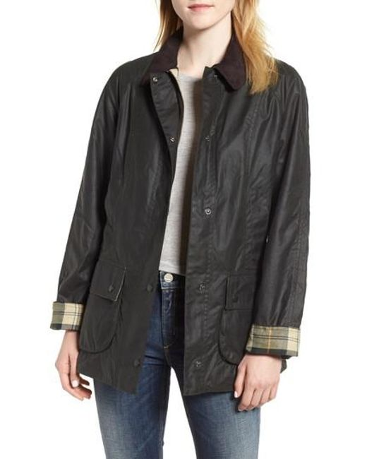 Barbour - Green Beadnell Waxed Cotton Jacket - Lyst