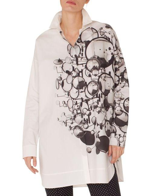 Akris Punto - Multicolor Mirror Print Tunic Shirt - Lyst