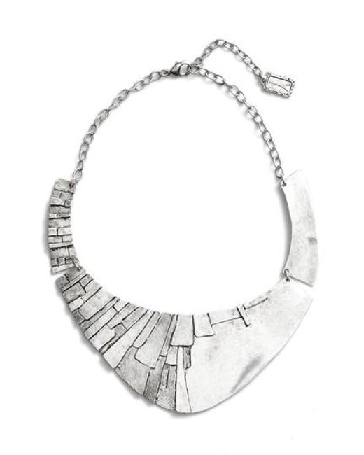 Karine Sultan | Metallic Statement Collar Necklace | Lyst