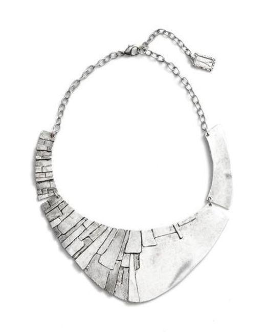 Karine Sultan - Metallic Statement Collar Necklace - Lyst